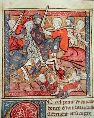 Fol.285r The Capture of Ferdinand of Portugal