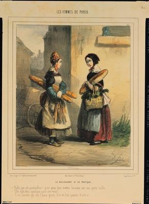 The Baker's Art, plate number 27 from the 'Les Femmes de Paris' series, 1841-42