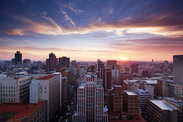 Skyline of Johannesburg city center | Cityscapes | Geography 14.1