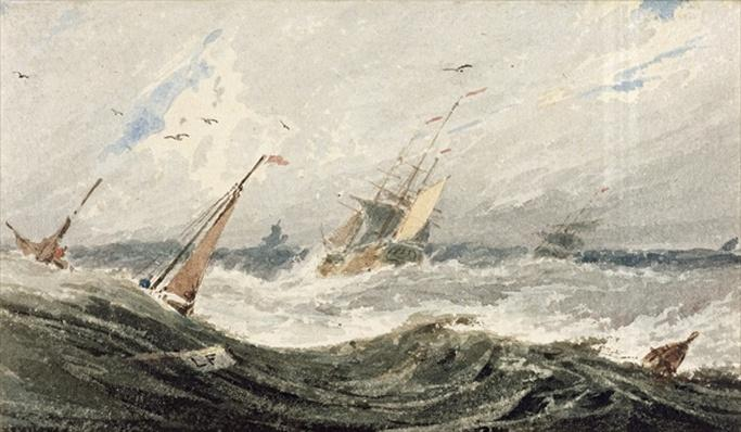 Boats on a Stormy Sea