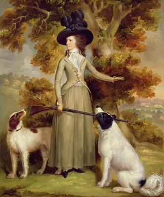 The Countess of Effingham with Gun and Shooting Dogs, 1787