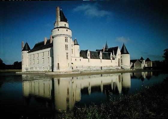 View of the keep and the south and east facades of the Chateau du Plessis-Bourre, built 1468-73