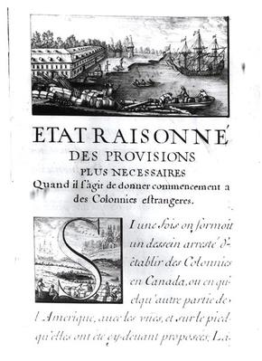 Frontispiece to 'L'Etat Raisonne'