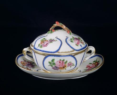 Sevres bowl and plate, 1764