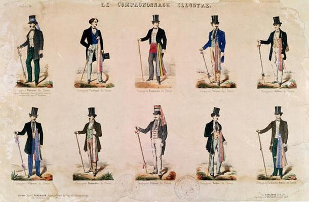 Costumes of various professions, from 'Le Compagnonnage Illustre'