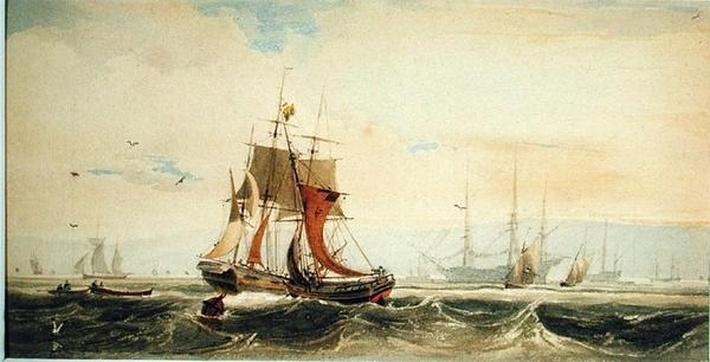 Shipping on the Medway, Kent