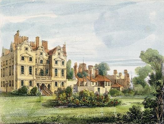 North Front, Old Palace, from the Queen's Garden, plate 5 from 'Kew Gardens: A Series of Twenty-Four Drawings on Stone', engraved by Charles Hullmandel