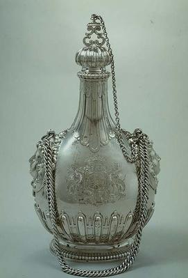 Pilgrim flask with the arm of Charles Churchill, 1702