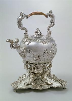 Tea kettle and stand by C.Kandler, London, 1730