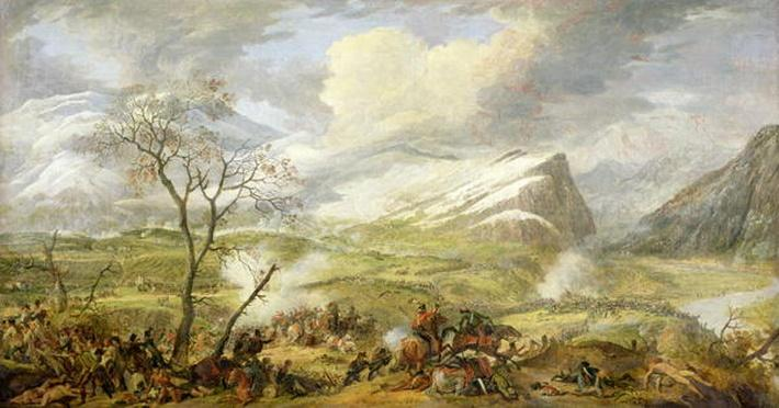 The Battle of Rivoli on the 14th January 1797