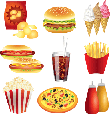 fast food meals set | Health and Nutrition