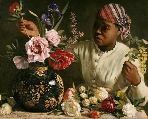 Negress with Peonies, 1870
