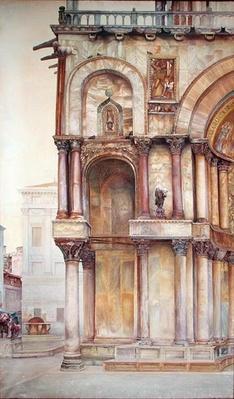 Corner of the Facade of St. Mark's Basilica, Venice, 1870