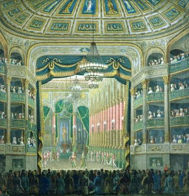 View of the Stage of the Paris Opera, Rue Richelieu, Paris