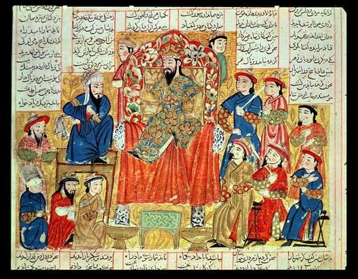 A Sultan and his Court, illustration from the 'Shahnama'