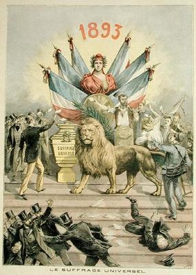 Universal Suffrage, illustration from the supplement of 'Le Petit Journal', 19th August 1893