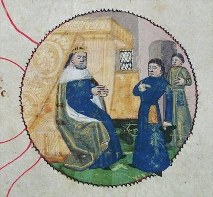 The Genealogy of Charles V and Charles VI, detail of Charles VI