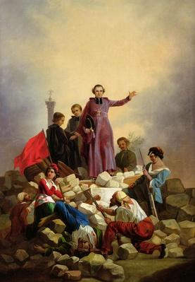 Archbishop Affre on the Barricades, 1848