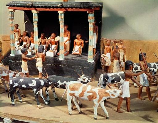 Funerary model of a census of livestock, from the Tomb of Meketre, Thebes, Middle Kingdom, c.2000 BC