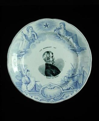 Plate with a portrait of Alexandre Brongniart