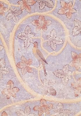 Detail of a bird, from the wall decoration of the Pope's bedroom, c.1334-62