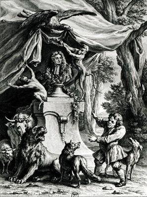 Allegorical portrait of Jean de La Fontaine