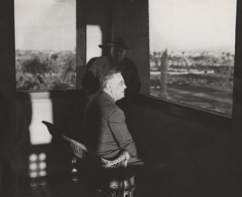 Franklin D. Roosevelt and Winston Churchill Watch the Sunset in Marrakech, 1943 | Ken Burns: The Roosevelts