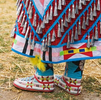 Native American Indian woman's dress and beaded boots | Native American Civilizations | U.S. History