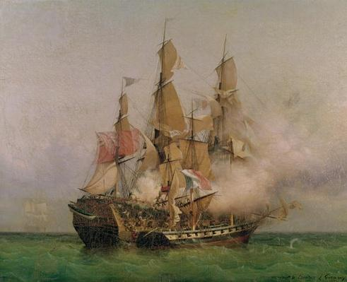 The Taking of the 'Kent' by Robert Surcouf