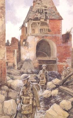British Soldiers in the Ruins of Peronne, 1917