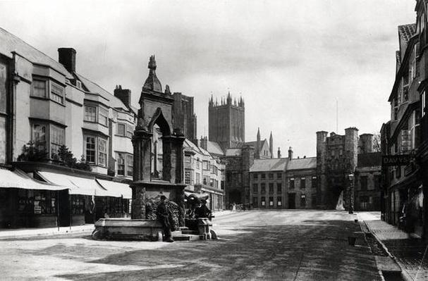 The Market Place, Wells, Somerset, c.1900