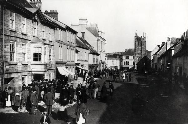 Market at Okehampton, Devon, c.1900