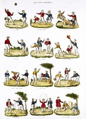 Children's Games, 1810 by French School, (19th century)
