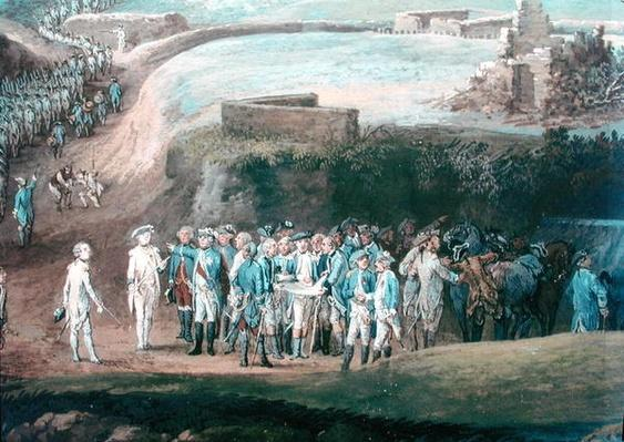 The Siege of Yorktown, 1st-17th October 1781, detail of the central group, 1784