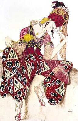 Costume design for Nijinsky in the ballet 'La Peri' by Paul Dukas