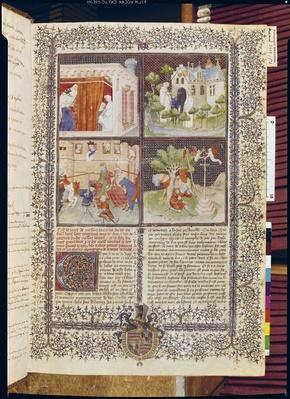 Ms 3479 t.1 f.1 The Story of Lancelot and the Quest for the Holy Grail, from the 'Livre de Messire Lancelot du Lac'