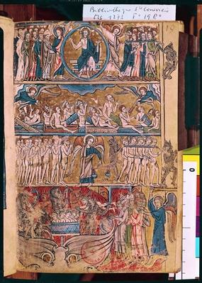 Ms 1273 f.19r The Last Judgement, from a Psalter