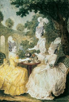 La Marquise de Montesson, La Marquise de Crest and la Comtesse de Damas drinking tea