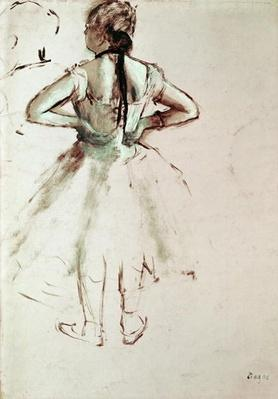 Dancer viewed from the back, by Degas, Edgar (1834-1917)