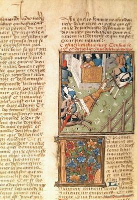 Ms 622 fol.221v The Torture of Brunhilda from 'Des Hommes Illustres', c.1460