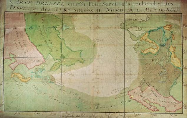 Map of New Discoveries in the North of the South Sea, East of Siberia and West of New France, 1731