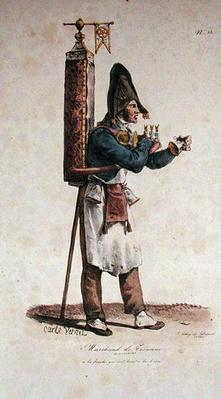 The Tisane Seller, number 13 from 'The Cries of Paris' series, engraved by Francois Seraphin Delpech