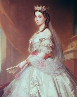 Portrait of Charlotte of Saxe-Cobourg-Gotha
