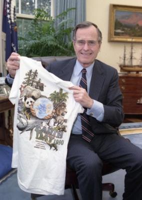 President George H.W. Bush on Earth Day