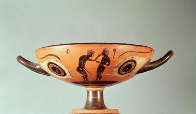 Black figure kylix, c.580-525 BC