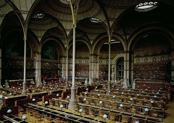 Interior of the 'Salle des Imprimes', 1868