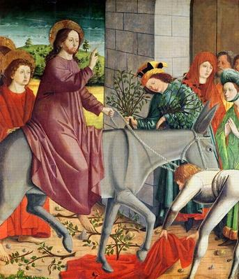 The Entry of Christ into Jerusalem, from the Altarpiece of St. Stephen, c.1470