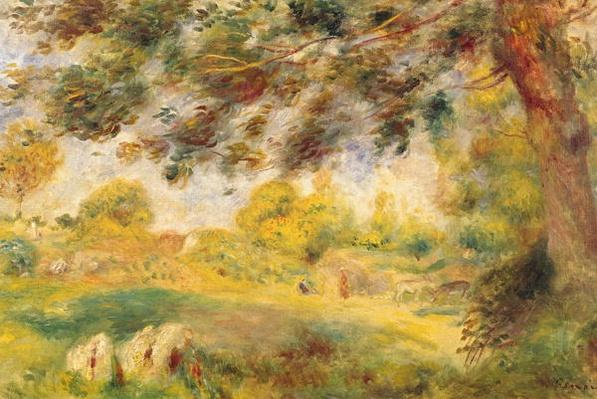 Spring Landscape by Renoir, Pierre Auguste (1841-1919)