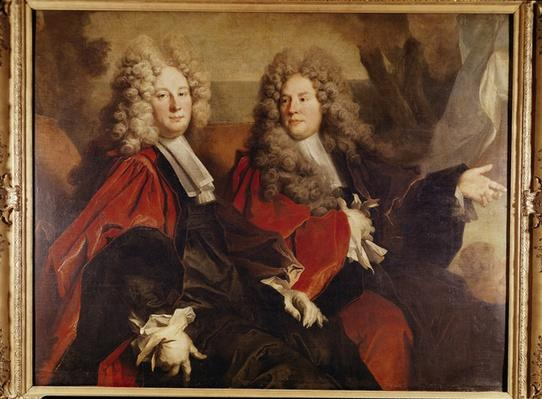 Portrait of Alderman Hugues Desnots and Alderman Bouhet, elected in 1702