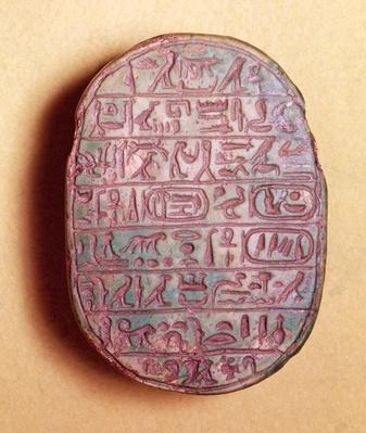 Base of a marriage scarab of Amenhotep III